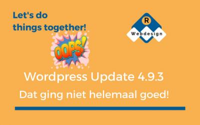 WordPress Update 4.9.3