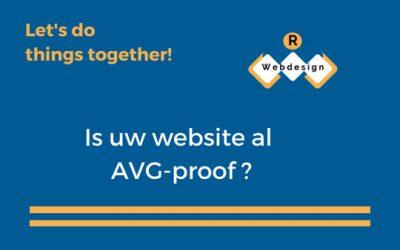Is uw website al AVG-proof?